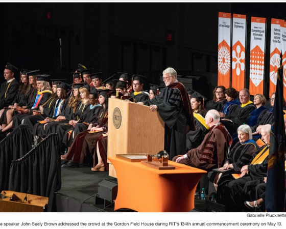 Omega's John Seely Brown Delivers Keynote at the Rochester Institute of Technology